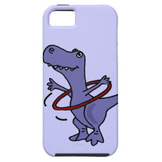 XX- Funny T-rex Dinosaur Using Hula Hoop iPhone SE/5/5s Case