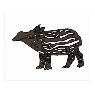 XX- Funny Tapir Cartoon Postcard