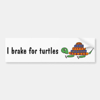 XX- Funny Turtle Cartoons Bumper Sticker