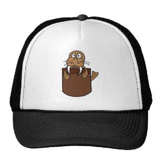XX- Funny Walrus in a Pocket Cartoon Trucker Hat