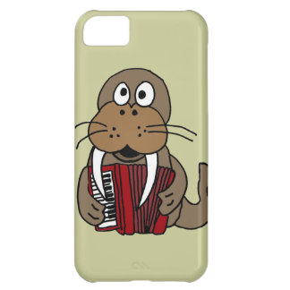 XX- Funny Walrus Playing Accordion Cartoon Case For iPhone 5C