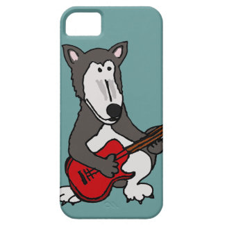 XX- Funny Wolf Playing Guitar iPhone SE/5/5s Case