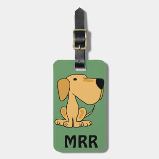 XX- Funny Yellow Labrador Dog Art Tags For Luggage