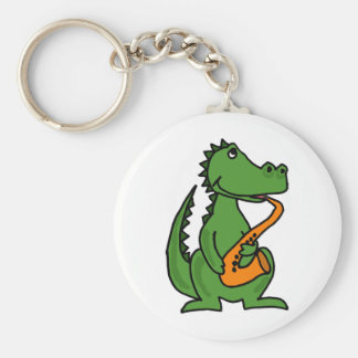 XX- Gator Playing Saxophone Keychain