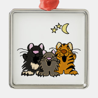 XX gatos divertidos del canto dibujo animado Ornamento Para Reyes Magos