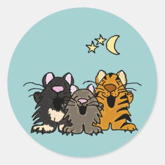 XX gatos impresionantes del canto Pegatina Redonda