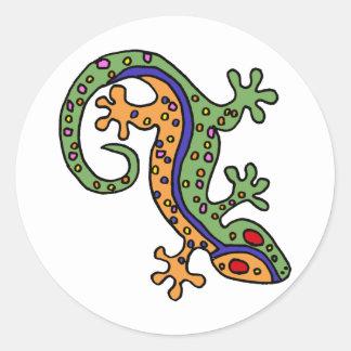 XX- Gecko Art Classic Round Sticker