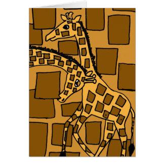 XX- Giraffe Art Abstract Cards