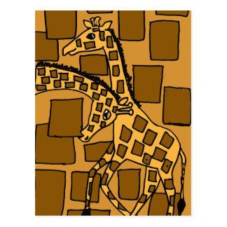 XX- Giraffe Art Abstract Postcard