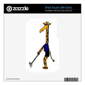 XX- Giraffe Playing Golf Design Decals For iPod Touch 4G