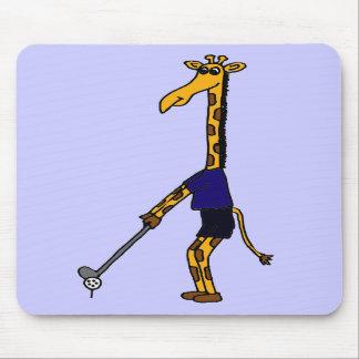XX- Giraffe Playing Golf Design Mousepads