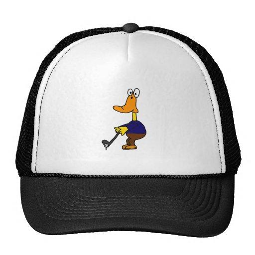 XX golfista divertido del pato Gorros Bordados