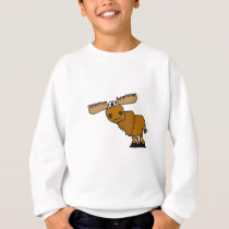XX- Goofy Moose Design Sweatshirt