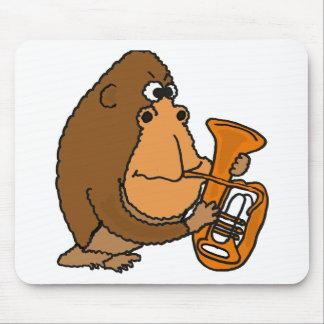XX- Gorilla Playing Tuba Mouse Pad