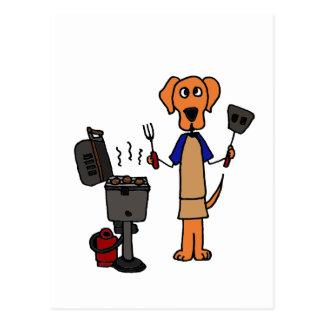 XX- Grill Master Cartoon Post Card