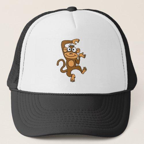 XX_ Happy Dancing Monkey Trucker Hat