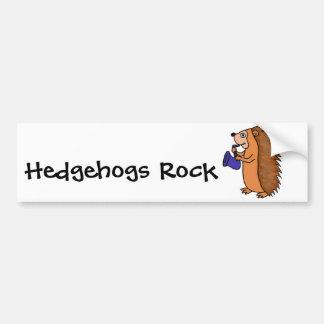 XX- Hedgehog Playing Saxophone Cartoon Car Bumper Sticker