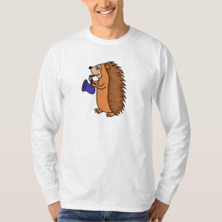 XX- Hedgehog Playing Saxophone Cartoon T-Shirt