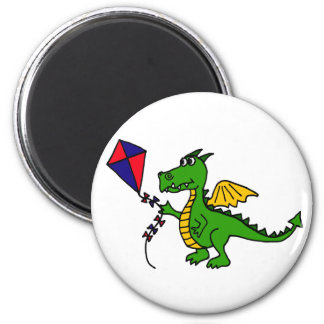 XX- Hilarious Dragon Flying Kite 2 Inch Round Magnet