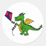 XX- Hilarious Dragon Flying Kite Sticker