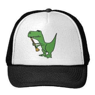 XX- Hilarious T-rex Dinosaur Playing the Clarinet Trucker Hat