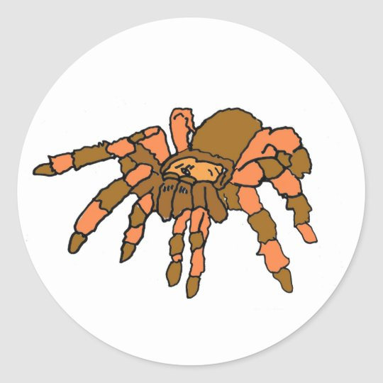 XX- Hilarious Tarantula Spider Classic Round Sticker