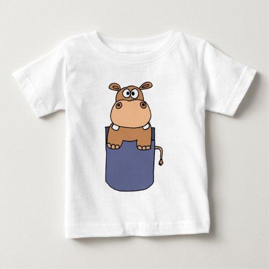 XX- Hippo in a Pocket Cartoon Baby T-Shirt
