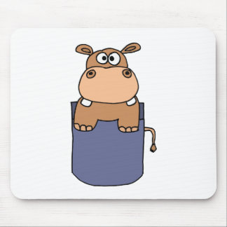 XX- Hippo in a Pocket Cartoon Mouse Pad