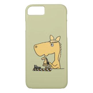 XX- Horse Playing Chess Cartoon iPhone 7 Case