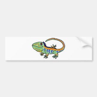 XX iguana colorida Pegatina De Parachoque