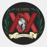 XX Image on Black Stickers
