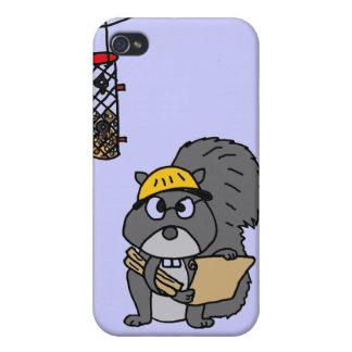 XX ingeniero de la ardilla iPhone 4/4S Carcasas