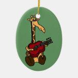 XX jirafa divertida que toca la guitarra Adorno Para Reyes