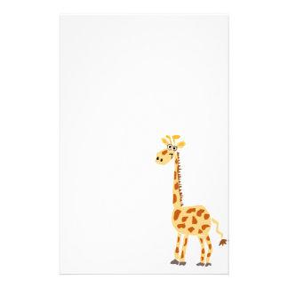 XX jirafa primitiva divertida del arte Papelería De Diseño
