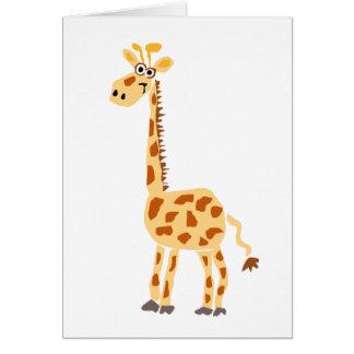 XX jirafa primitiva divertida del arte Tarjetas