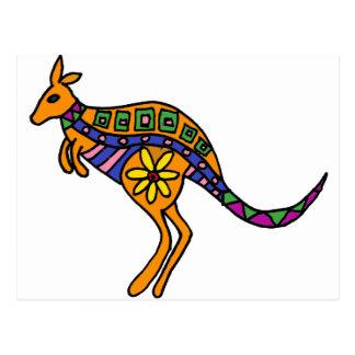 XX- Kangaroo Art Postcard