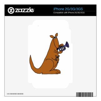 XX- Kangaroo Playing the Trumpet iPhone 2G Decal