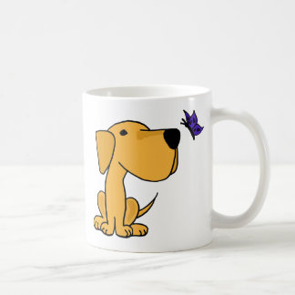 XX- Labrador Retriever Watching Butterfly Cartoon Coffee Mug
