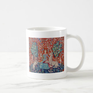 XX- Lady and the Unicorn Tapestry Art Design Classic White Coffee Mug