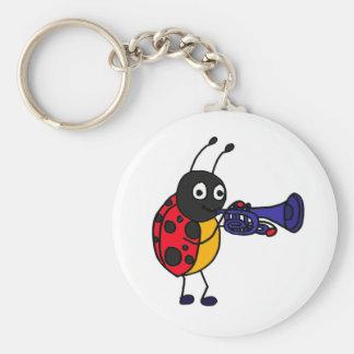 XX- Ladybug Playing Trumpet Cartoon Key Chains