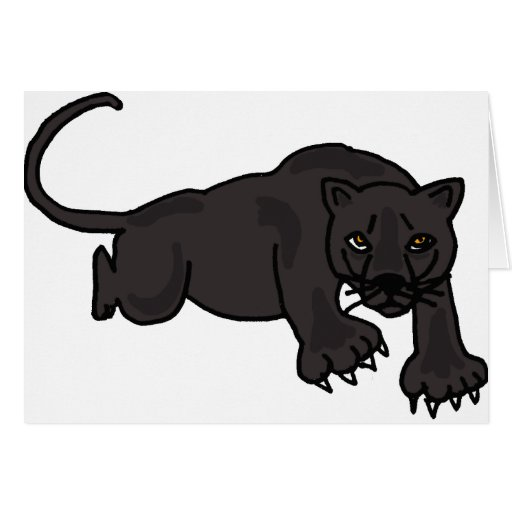 XX- Leaping Panther Greeting Card
