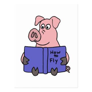 XX lectura del cerdo cómo al libro de mosca Postal