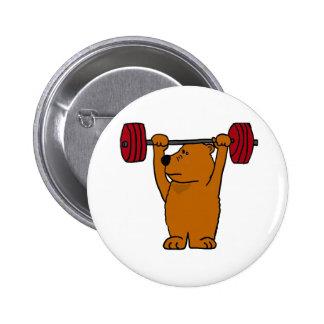XX levantamiento de pesas divertido del oso de Bro Pin
