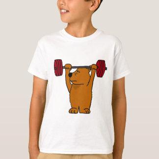 XX levantamiento de pesas divertido del oso de Playera