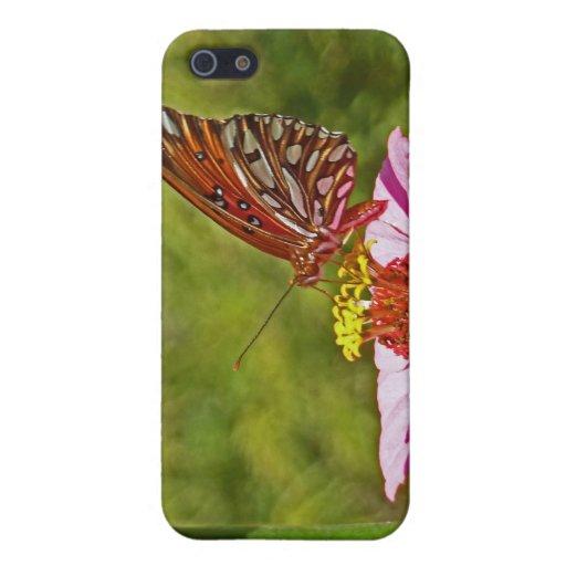 XX mariposa de monarca en Zinnia iPhone 5 Carcasa