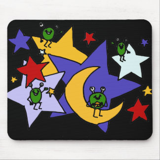 XX- Martians and Stars Art Mouse Pad