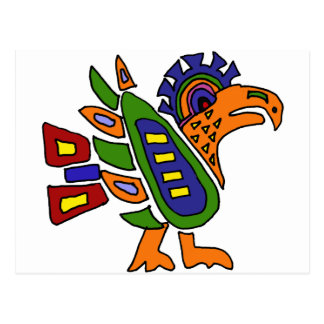 XX- Mexican Style Colorful Eagle Postcard