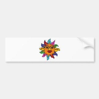 XX- Mexican Sun Art Bumper Sticker