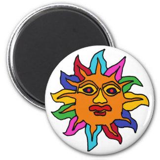 XX- Mexican Sun Art Refrigerator Magnets