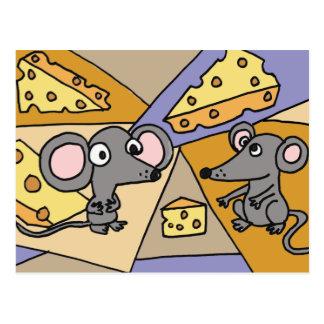 XX- Mice and Cheese Art Postcard
